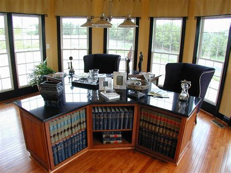 Dual Desks Home Office Dual Desks Home Office Home Office Traditional With Built