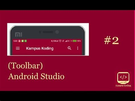 android studio toolbar tutorial android studio tutorial material design toolbar youtube
