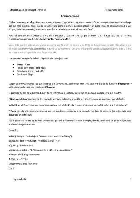 powerpoint vbscript tutorial tutorial basico de vbscript by novlucker parte5