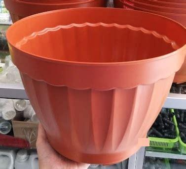 Pot Anggrek Plastik Bening pot bunga tanaman coklat 35 cm bibitbunga