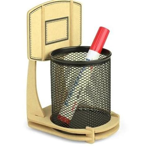 Sports Desk Accessories by Wooden Basketball Stand Pen Pencil Holder From And