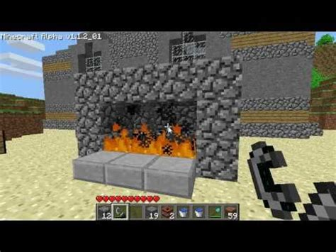 How Do I Make A Fireplace In Minecraft by Minecraft Fireplace