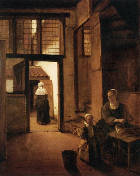 Interior Of A Dutch House Pieter De Hooch Wikiart Org Encyclopedia Of Visual Arts