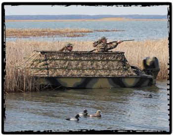 open layout boat duck hunting boats