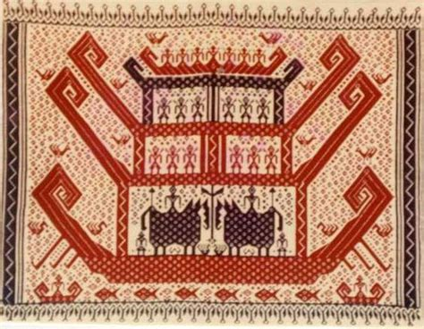 Tapis Bordir Motif Kapal 3 Tingkat 1 Tapis Kapal Lung Indonesia Textiles