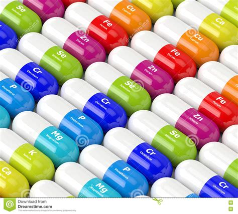 supplement 3d 3d rendering of dietary supplements royalty free stock