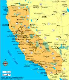 vacation ideas map of california epicurean tours inc