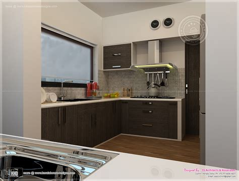 beautiful house interior view of the kitchen kitchen interior views by ss architects cochin home