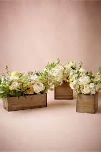 flower box centerpiece wedding wooden box planters i would use them for confetti cones