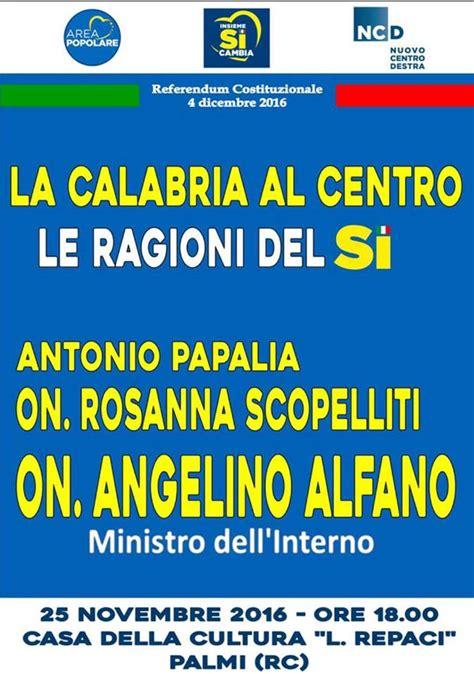 alfano ministro dell interno referendum il ministro dell interno angelino alfano a