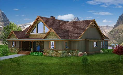 3 bedroom open living mountain house floor plan by max
