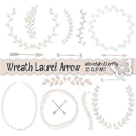 Hochzeitseinladung Zeichnung by Draw Wreath Laurel Clipart Wedding Invitation Digital