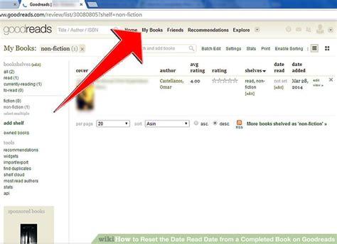 How To Search For On Goodreads How To Reset The Date Read Date From A Completed Book On Goodreads