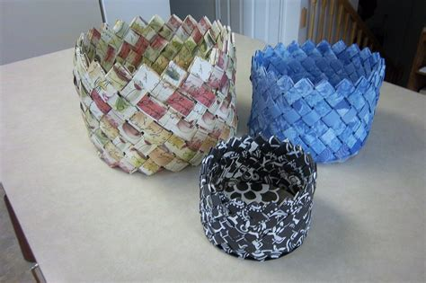 How To Make A Paper Weave Basket - 100 1455