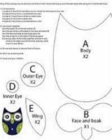 best photos of printable owl sewing pattern owl pattern over 200 free owl crafts sewing crochet knitting and more