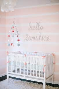 pink and white nursery white and pink striped nursery walls transitional nursery