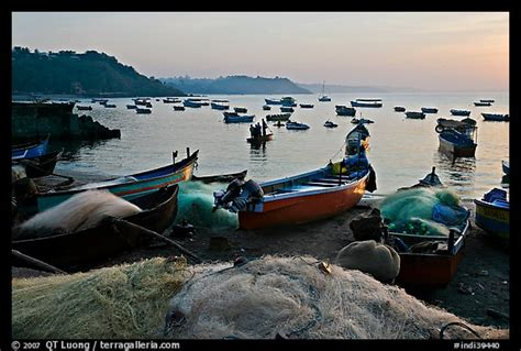 fishing boat rate in india picture photo fishing nets and boats sunrise goa india