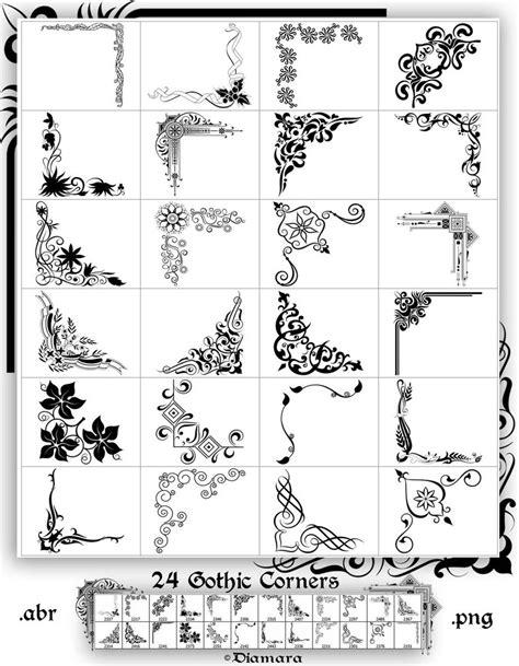 gothic pattern brush 24 gothic corners by diamara on deviantart