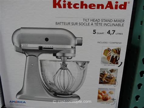 costco kitchen aid mixer kitchenaid tilt stand mixer with glass bowl