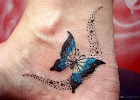 butterfly tattoo on foot butterfly tattoos designs pictures page 8