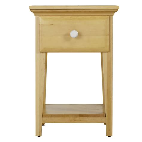 white one drawer nightstand one drawer nightstand in natural and white