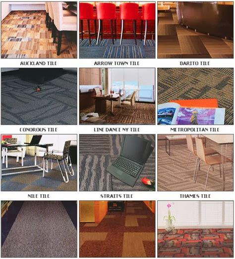 Karpet Lantai Tile rum design kombinasikan ruangan dengan karpet tile