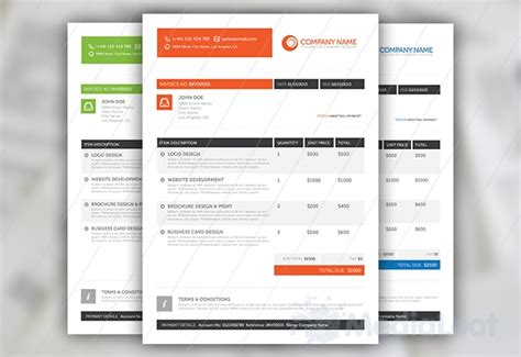 9 best images about invoice templates on pinterest