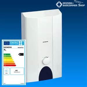 durchlauferhitzer badezimmer siemens durchlauferhitzer elektronisch 24 27 kw de2427415
