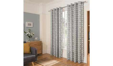 George Home Grey Smudgy Geo Print Curtains Home Garden