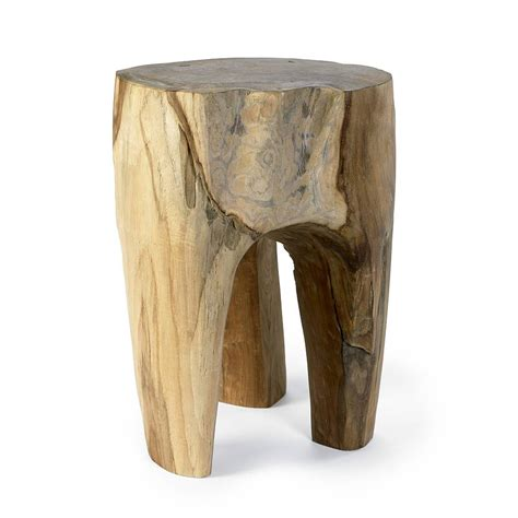 Teak Wood Stool teak wood stool by bell blue notonthehighstreet