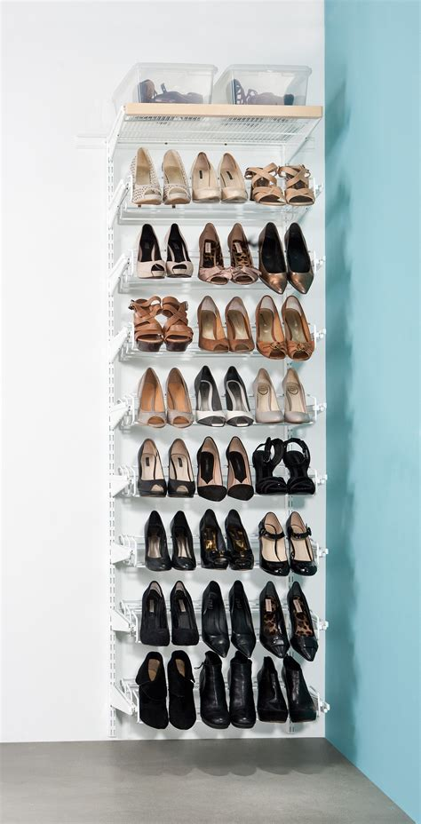 howards storage shoe rack elfa gliding shoe rack available at howards storage world