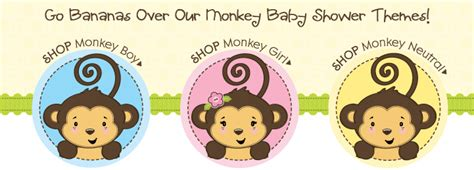 Monkey Themed Baby Shower by Baby Shower Monkey Images