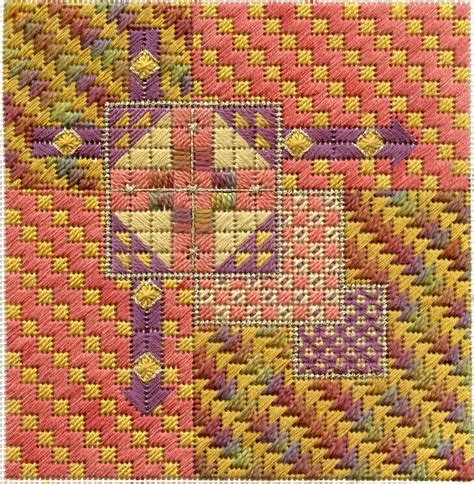 geometric designs needlepoint terry dryden needlework designs color texture stitch
