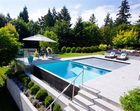 Infinity Pool Backyard 21 Landscape Small Backyard Infinity Pool Design Ideas Style Motivation