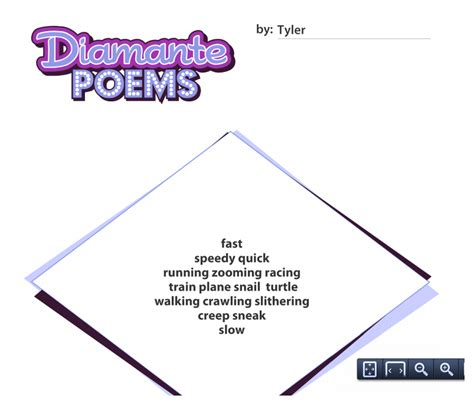 search results for diamante poem template printable