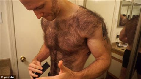 hairy before and shaved photos photos extremely hairy man shaves his chest and back