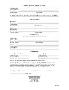 Credit Reference Forms Business Business Credit Reference Check Form Template