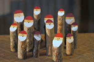 log santas primitive decorations wooden santa