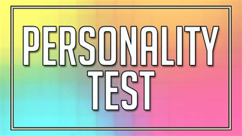 temperament test personality test