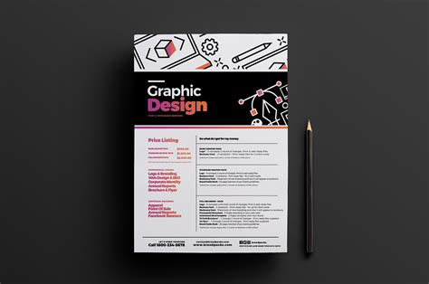 price list design template graphic design agency poster template v2 brandpacks