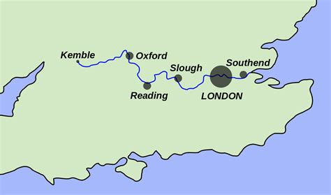 thames river on a map file thames map svg wikimedia commons