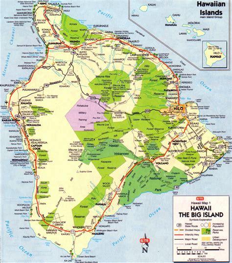 map of hawaii islands big island map map of the big island of hawaii