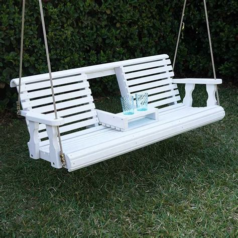 heavy duty porch swing porchgate amish heavy duty 700 lb rollback console treated