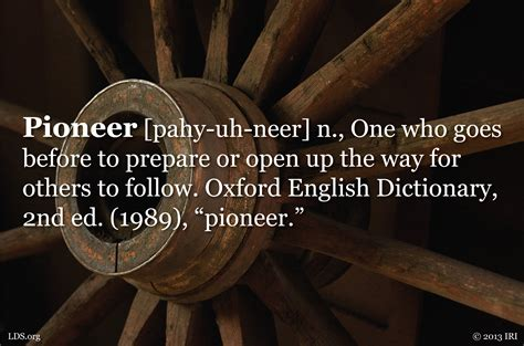 Definition For Pioneer