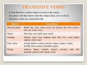 verbs regular irregular transitive intransitive