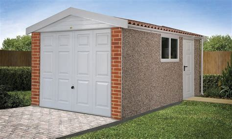 compton detached sectional garage apex 15 roof concrete garages free quote lidget compton