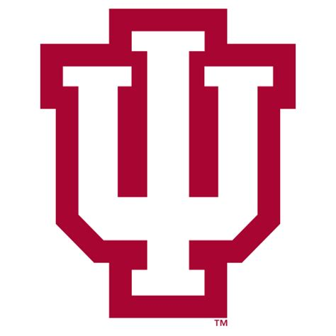 College Letter Logos Logo Indiana Hoosiers Iu White With Outline Fanapeel