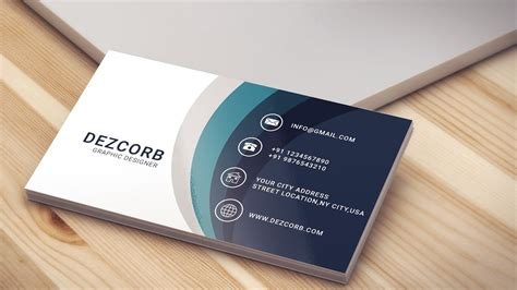 business card template cs6 business card design in photoshop cs6 back blue