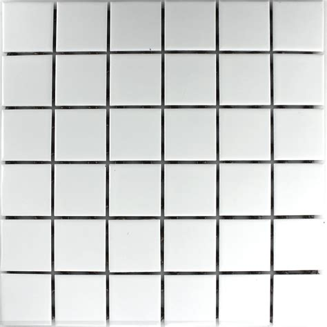 Ceramic Mosaic Tile Ceramic Mosaic Tiles White Matt 48x48x6mm Ho24163m