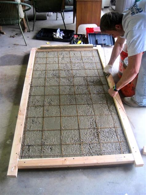 How To Make A Cement Patio by Building A Concrete Tabletop Craft Ideas